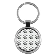 Animal Bison Grey Wild Key Chains (round)  by Alisyart