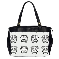 Animal Bison Grey Wild Office Handbags (2 Sides)  by Alisyart