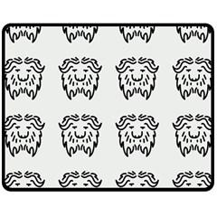 Animal Bison Grey Wild Double Sided Fleece Blanket (medium)  by Alisyart