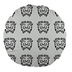 Animal Bison Grey Wild Large 18  Premium Flano Round Cushions by Alisyart