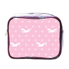 Wallpaper Same Palette Pink Star Bird Animals Mini Toiletries Bags by Alisyart