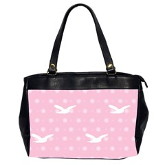 Wallpaper Same Palette Pink Star Bird Animals Office Handbags (2 Sides)  by Alisyart