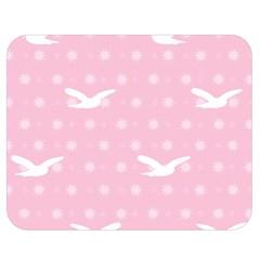 Wallpaper Same Palette Pink Star Bird Animals Double Sided Flano Blanket (medium)  by Alisyart