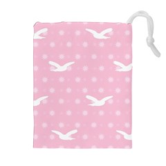 Wallpaper Same Palette Pink Star Bird Animals Drawstring Pouches (extra Large) by Alisyart