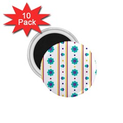 Beans Flower Floral Blue 1 75  Magnets (10 Pack)  by Alisyart