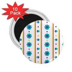 Beans Flower Floral Blue 2 25  Magnets (10 Pack)  by Alisyart