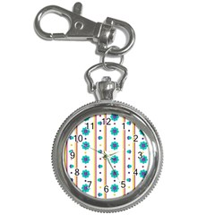Beans Flower Floral Blue Key Chain Watches by Alisyart