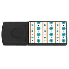 Beans Flower Floral Blue Usb Flash Drive Rectangular (4 Gb) by Alisyart