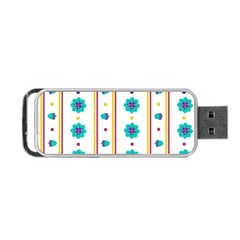 Beans Flower Floral Blue Portable Usb Flash (one Side) by Alisyart