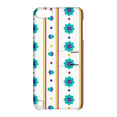 Beans Flower Floral Blue Apple Ipod Touch 5 Hardshell Case With Stand by Alisyart