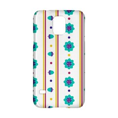 Beans Flower Floral Blue Samsung Galaxy S5 Hardshell Case  by Alisyart