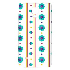 Beans Flower Floral Blue Galaxy Note 4 Back Case by Alisyart