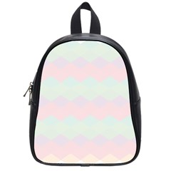 Argyle Triangle Plaid Blue Pink Red Blue Orange School Bags (small)  by Alisyart