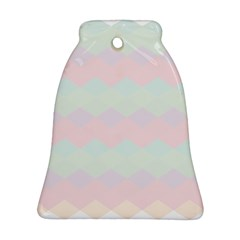 Argyle Triangle Plaid Blue Pink Red Blue Orange Ornament (bell) by Alisyart