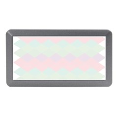 Argyle Triangle Plaid Blue Pink Red Blue Orange Memory Card Reader (mini) by Alisyart