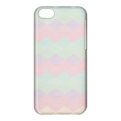 Argyle Triangle Plaid Blue Pink Red Blue Orange Apple Iphone 5c Hardshell Case