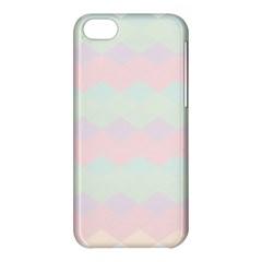 Argyle Triangle Plaid Blue Pink Red Blue Orange Apple Iphone 5c Hardshell Case by Alisyart