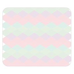 Argyle Triangle Plaid Blue Pink Red Blue Orange Double Sided Flano Blanket (small)  by Alisyart