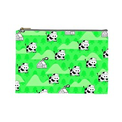 Animals Cow Home Sweet Tree Green Cosmetic Bag (large)  by Alisyart