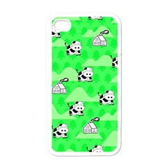 Animals Cow Home Sweet Tree Green Apple Iphone 4 Case (white) by Alisyart