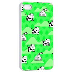 Animals Cow Home Sweet Tree Green Apple Iphone 4/4s Seamless Case (white) by Alisyart