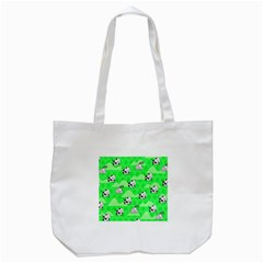 Animals Cow Home Sweet Tree Green Tote Bag (white) by Alisyart