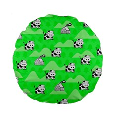 Animals Cow Home Sweet Tree Green Standard 15  Premium Flano Round Cushions by Alisyart