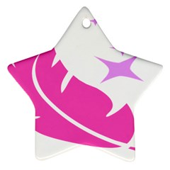 Bird Feathers Star Pink Star Ornament (two Sides) by Alisyart