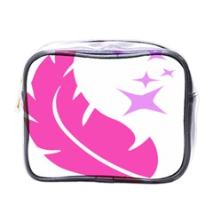 Bird Feathers Star Pink Mini Toiletries Bags by Alisyart