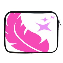 Bird Feathers Star Pink Apple Ipad 2/3/4 Zipper Cases by Alisyart