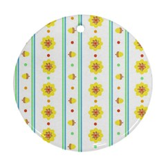 Beans Flower Floral Yellow Ornament (round) by Alisyart