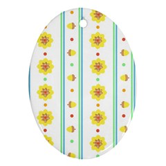 Beans Flower Floral Yellow Ornament (oval) by Alisyart