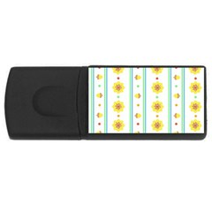 Beans Flower Floral Yellow Usb Flash Drive Rectangular (4 Gb) by Alisyart