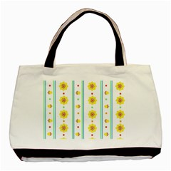 Beans Flower Floral Yellow Basic Tote Bag by Alisyart