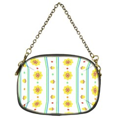 Beans Flower Floral Yellow Chain Purses (one Side)  by Alisyart