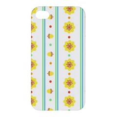 Beans Flower Floral Yellow Apple Iphone 4/4s Premium Hardshell Case by Alisyart