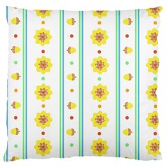 Beans Flower Floral Yellow Large Cushion Case (two Sides) by Alisyart