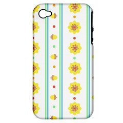 Beans Flower Floral Yellow Apple Iphone 4/4s Hardshell Case (pc+silicone) by Alisyart