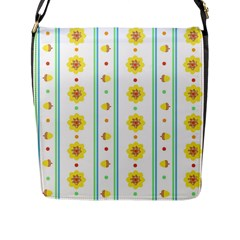 Beans Flower Floral Yellow Flap Messenger Bag (l)  by Alisyart
