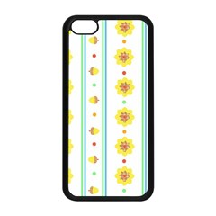 Beans Flower Floral Yellow Apple Iphone 5c Seamless Case (black) by Alisyart