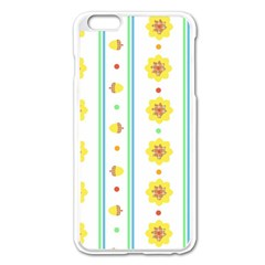 Beans Flower Floral Yellow Apple Iphone 6 Plus/6s Plus Enamel White Case by Alisyart