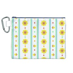 Beans Flower Floral Yellow Canvas Cosmetic Bag (xl) by Alisyart