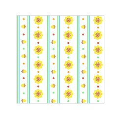 Beans Flower Floral Yellow Small Satin Scarf (square) by Alisyart
