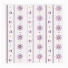 Beans Flower Floral Purple Medium Glasses Cloth (2 Side) by Alisyart