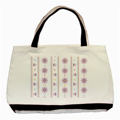 Beans Flower Floral Purple Basic Tote Bag (two Sides) by Alisyart