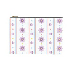 Beans Flower Floral Purple Cosmetic Bag (large)  by Alisyart