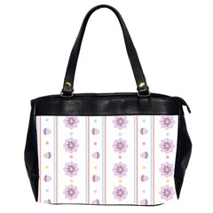 Beans Flower Floral Purple Office Handbags (2 Sides)  by Alisyart