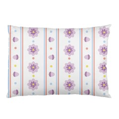 Beans Flower Floral Purple Pillow Case (two Sides) by Alisyart