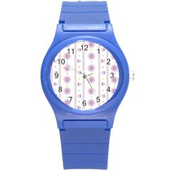 Beans Flower Floral Purple Round Plastic Sport Watch (s) by Alisyart