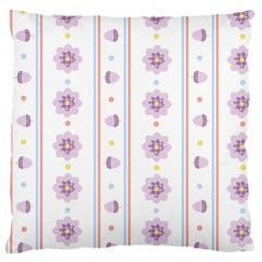 Beans Flower Floral Purple Large Cushion Case (one Side) by Alisyart